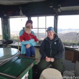 Emilie, Isaac, and the fire lookout