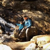 Tyson and Isaac by lower Purgatory Falls