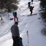 Starting up the steep part