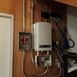 Inverter installation in the garage.