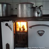 Old fashioned wood fired kitchen stove