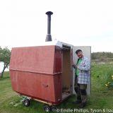 Henrik showing off his sauna