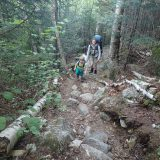 Starting up the steep section of the Signal Ridge Trail