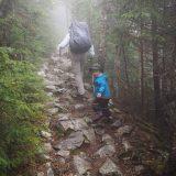 Wet, slippery rocks.
