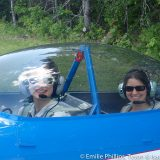 Emilie giving a ride in her RV-4