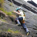 Isaac's first climb