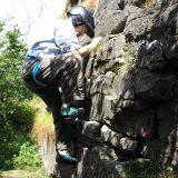 John climbing.