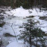 Higher up on the Sawyer River where it was still partly frozen