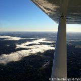 Fog in the James River valley.